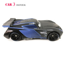 Disney PIXAR Cars 3 JACKSON STORM 1:55 Scale Mini Cars Model Toys For Children Birthday Gifts New Figures Alloy Cars Brinquedos(China)