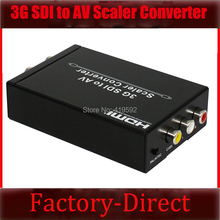 3G SDI to RCA AV composite video audio converter with SDI loop output for CCTV cameras