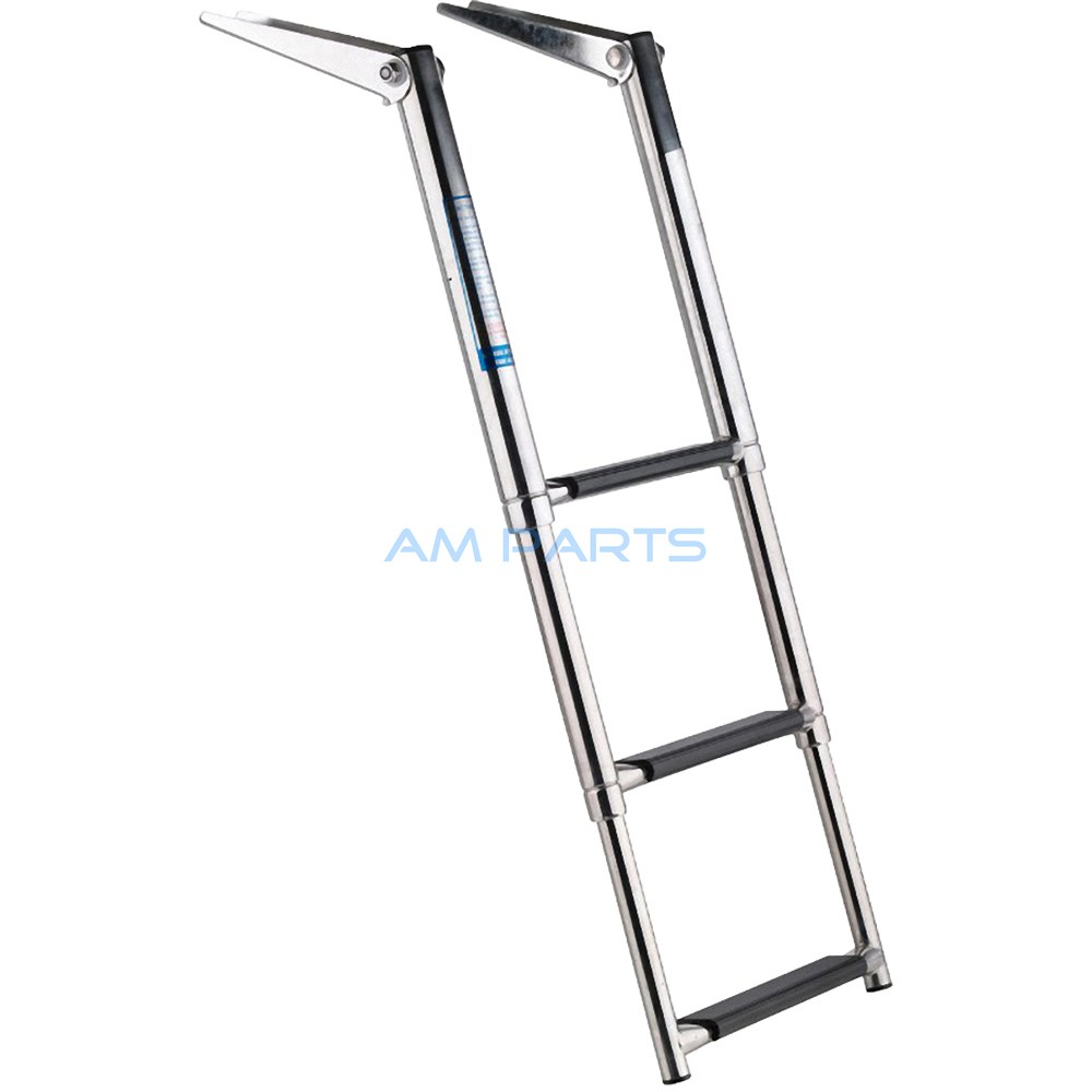 Stainless Steel 3 Step Telescopic Boat Ladder - Marine Transom Boarding Ladder(China (Mainland))