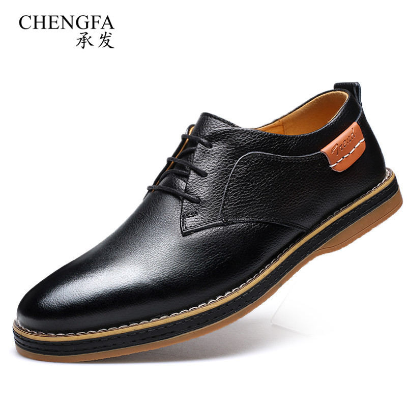 Top Quality Spring Summer Mens Shoes Genuine Leather Oxford Shoes Men Casual Leather Work Footwear Zapatos Hombre<br>