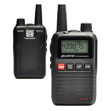 Free shipping NEW PUXING PX-A6 VHF 136-174MHZ Mini compact two way radio walkie talkie with FM radio best for hotel commercial