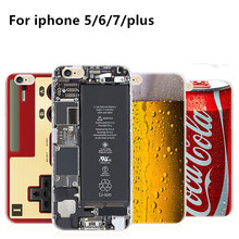 2017 New Disguise Coke Pepsi Case For iPhone 5 5s 6 6S 7 7 plus case Drink Beer Bottles Cartoon Anti-knock Phone Cases Cover