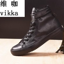 vikka hot 2017 High Quality Men Canvas Shoes  Fashion High top Men's Casual Shoes Breathable Canvas Man Lace up Brand Shoes
