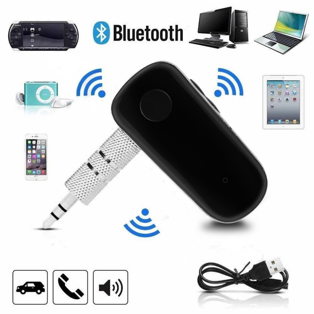 Mini Wireless Bluetooth Car Kit Hands free 3.5mm Jack AUX Audio Receiver Adapter BT-510 Bluetooth receiver 12.12