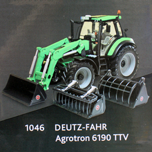 1/32 scale Original Weise-toys Metal Alloy DEUTZ-FAHR Agrotron 6190 TTV Tractor Excavator Agricultural Machinery Model boy Toys