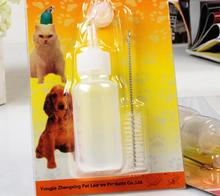50ml Puppy Kitten Feeding nursing water milk bottle special for newborn pets with Cleaning Brush(China)