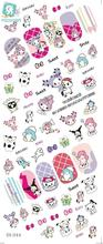 RU2PCS DS044 Water Transfer Foils Nail Art Sticker Harajuku Cartoon Manicure Decals Minx Nail Decorations Stickers for Nail(China)