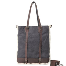 New Design Grey Men's Canvas Handbags With Simple Style For Male & Female High Quality Casual Large Canvas Totes For Shop G049(China)