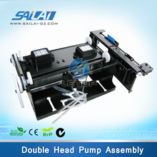 Up and down Double head pump and cap assembly for epson dx5 eco solvent printer