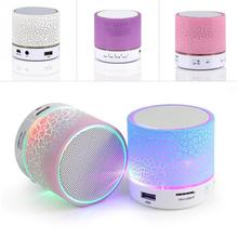 2016 New LED MINI Bluetooth Speaker A9 TF USB FM Wireless Portable Music Sound Box Subwoofer Loudspeakers For phone PC with Mic(China)