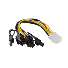 CPU 6 Pin To Graphics Video Card  PCI Express Power Splitter Cable 6Pin Female Double 8Pin Male QJY99