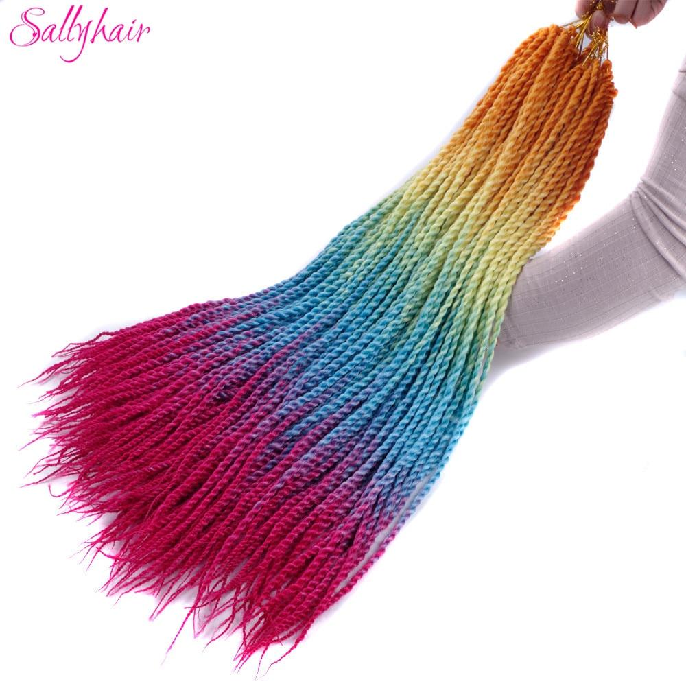 Ombre Color Senegal Twist Braids Crochet Braids Hair Extensions (43)_