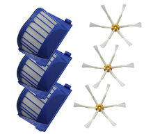 High Quality AeroVac Filter,Side Brush,Bristle and Flexible Beater Brush Combo for iRobot Roomba 600 610 620 625 630 650 660