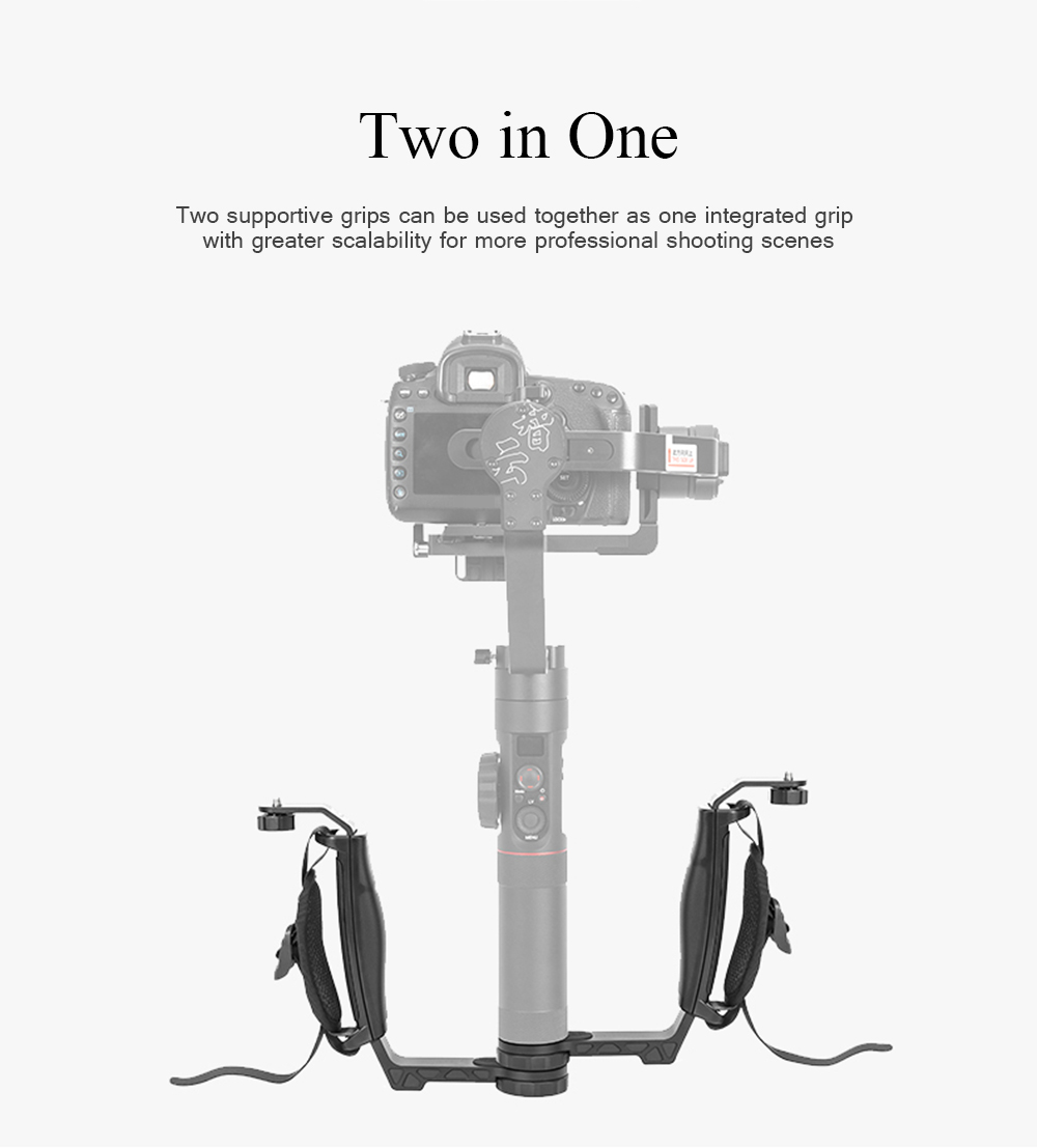 Zhiyun Crane 2 Gimbal Accessories L Bracket Mini Dual Grip Handle Holder with Hand Strap Free Extension 6
