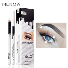 2017 New Eye Liner Color Cheap Makeup High Quality Menow Brand Long Lasting Pigment Waterproof White Eyeliner Pencil Lot