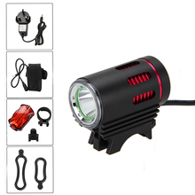 3000lm XM-L2 Bike LED Light Front Rechargeable Waterproof Bicycle Light Lamp +AC Charger+16000mAh Battery Pack +Taillight(China)
