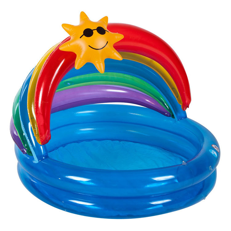 PVC Inflatable Baby Green Bathing Pool Rainbow Sun Prevention  Baby Tub Child Family Fishing Pond Hot Style baby bath<br>
