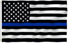 free shipping BlueLine usa Police Flags, 90*150cm Thin Blue Line USA Flag Black, White And Blue American Flag With Grommets