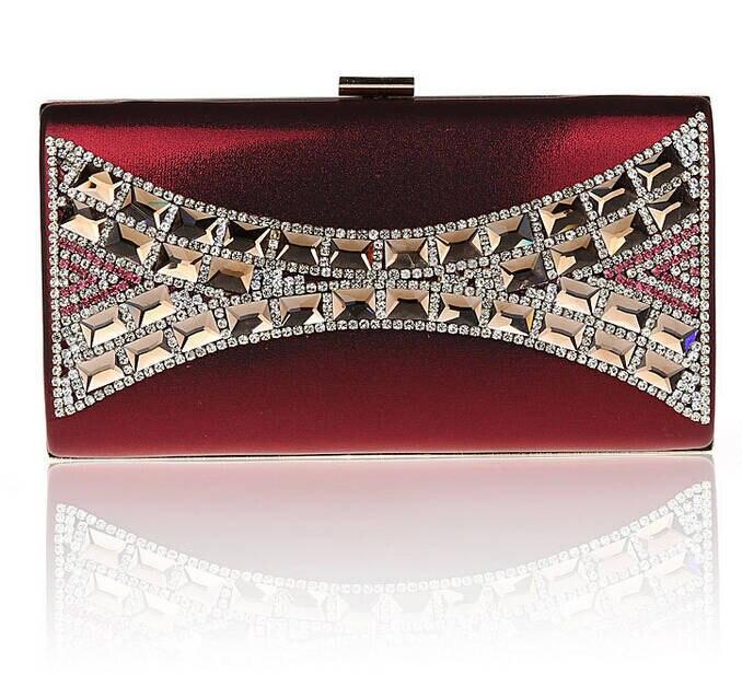 2015 New Noble Luxury Women Evening Clutch Diamond &amp; Chain Designer Bag Gold Chain Crossbody Rhinestone Purses bolsas XA1088B<br><br>Aliexpress