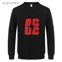 Spring Winter Rock Band AC DC Sweatshirts Fashion Man Long Sleeve Cotton Fleeve Hoodies Sweatshirt Men Tops(China)
