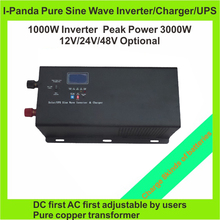 LCD 1000W true sine wave inverter 1000W  power inverter with battery charger  1000W UPS Peak 3000W