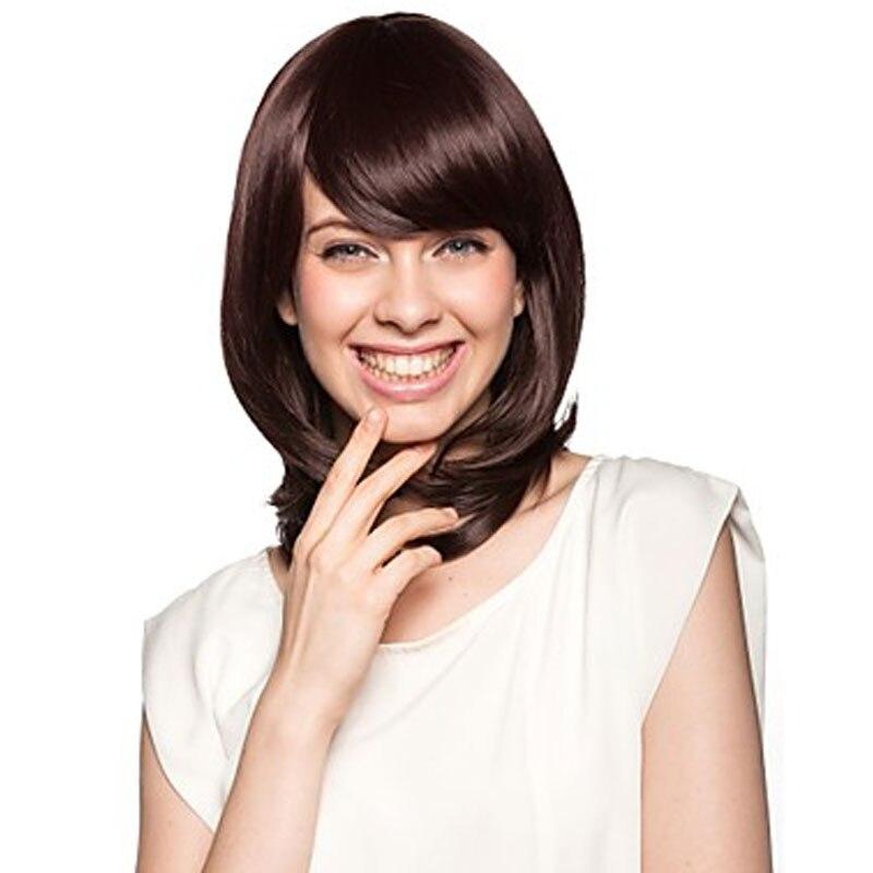 20 Long Wavy Dark Brown Hair Wig for Women Cheap Wigs Female Fake Hair False Hair Wig Kanekalon Realistic African American Wigs<br><br>Aliexpress