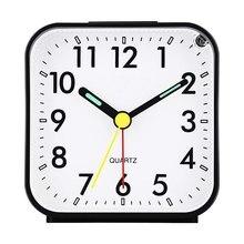 14ec9931a77 Alarme silencioso Relógio Eletrônico Digital LED Noite Luminosa Mesa Mesa  Despertador Com Função Snooze Som das