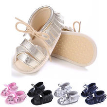 Baby Tassel Soft Sole Leather Shoes Infant Boy Girl Toddler Summer Sandals 0-18M(China)