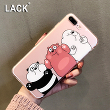 Buy LACK Lovely Cartoon Bare Bears Case iphone 7 Case iphone7 7 Plus Cute Animal Cover Soft TPU Clear Phone Cases Capa for $1.81 in AliExpress store