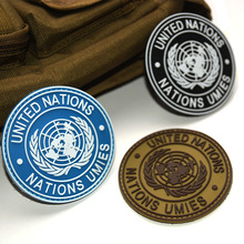 2017 Fashion Badge Of International U.N UN United Nations Genuine Armbands Shoulder For Most Military Kit And Apparel Badg(China)