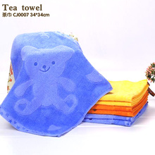 A hook towel cartoon figure with 3 soft color hand towels Bamboo cotton towel wash free shipping