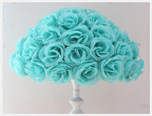 45cm*4 pcs Rose kissing ball artificial silk flower  Tiffany Blue color Home Decoration Festive & Party Supplies Wedding Favors