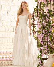 Weddingdress Ruffle Tulle Vestidos De Novia 2016 Cheap Price New Arrival Wedding Dresses Italy with Straps In Garden Sweep Train