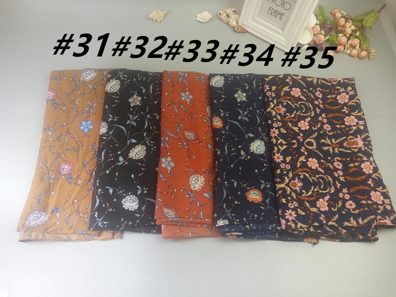 K20 10pcs high quality flower printing l bubble chiffon muslim hijab wrap  shawl women scarf scarves 180*75cm - us285