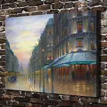 1146 Cafe De Paris Robert Finale Landscape, HD Canvas Print Home decoration Art painting Living Room Bedroom Wall pictures