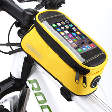 "&!HOT!& Cheap! Mountain Bike Bag on The Frame Touch Screen 4.2"" 4.8"" 5.5"" Cell Phone Cycling Accessories Bag Bicycle Saddle Bag"