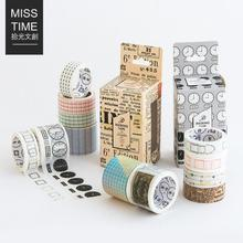 4 pcs/pack Color Time Newspaper Season Decorative Washi Tape Scotch DIY Scrapbooking Masking Craft Tape School Office Supply