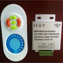 FUT041 DC12V-24V 433MHz Wireless Color Brightness Adjustable LED Dimmer Controller w/ RF Remote for Single Color Strip Light