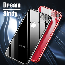 Luxury plating soft cases For iphone 5 5s se 6 6s Plus case TPU Ultra Thin cover For iphone 7 7 Plus Silicone Transparent shell(China)