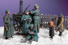 1/35 WW2 Soviet dining scene (not including meals car) WWII Resin Model Kit figure Free Shipping