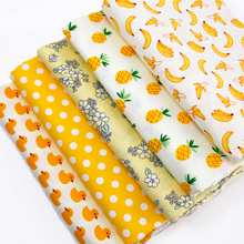 50*145cm fruit watermelon apple banana 100 percent cotton fabric for Tissue Kid Bedding home textile for Sewing Tilda Doll,c717(China)