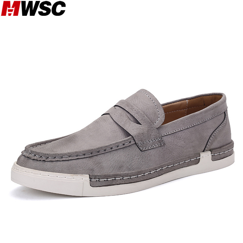 MWSC 2017 New Slip On Men Loafers Shoes PU Leather Casual Shoes Fashion Mocassin Male Zapatos Chaussure Homme<br>