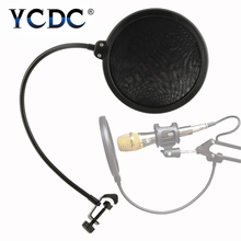 YCDC Hotsale Double Layer Studio Microphone Mic Wind Screen Pop Filter/ Swivel Mount / Mask Shied For Speaking Recording EN4107