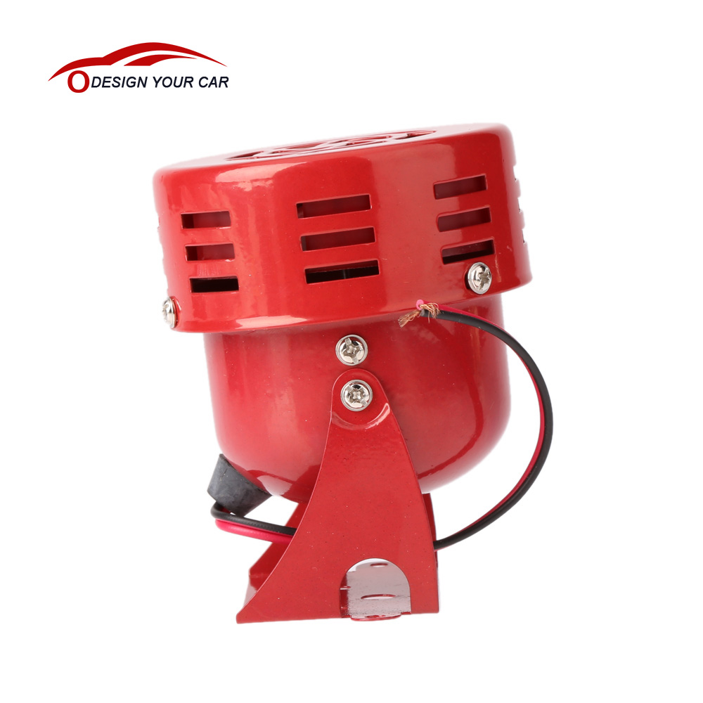 Universal Car Horns Speaker 12V 3'' 22 Automotive Motorcycle Horns Air Raid Siren Horn Car Truck Motor Driven Alarm Red(China)