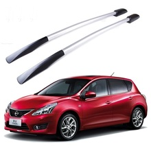 For Nissan Tiida  roof racks Aluminum roof boxes easy install Without drilling Luggage rack AUTO refit