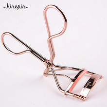 Eyelash Curler Rose Gold Fashion Pro Handle Eye Curling Eyelashes Eye Lashes Curler Clip Brand Beauty Makeup Tools 95mm*35mm(China)