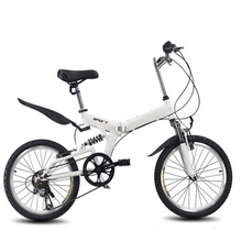 6 variable speed folding bike 20 inch road bike male and female cycling High carbon steel folding bicycle variable speed bike(China)