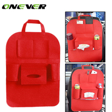 Auto Car Storage Bag Car Seat Multi Pocket Travel Storage Bag Hanger Car Styling Back Car Seat Cover Organizer Holder(China)