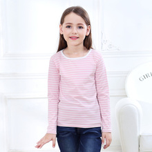 SheeCute boys girls T shirt New Spring Autumn Childrens clothes boys girls striped T-shirt Kids full sleeve tees cotton 3-14Y(China)