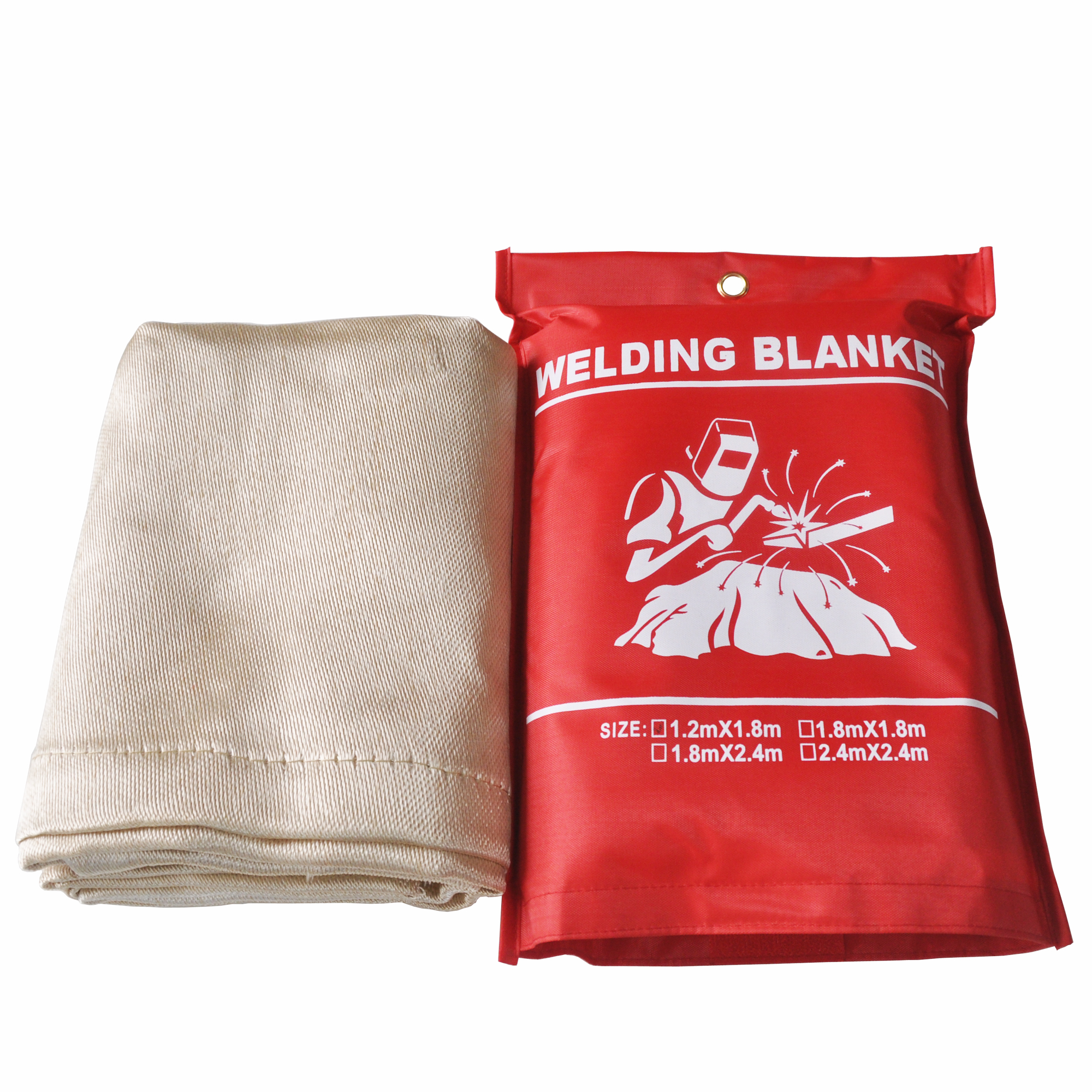 1m x 1m Fire Blanket Fiber Glass Flame Retardant Welding Cover Protective Fabric